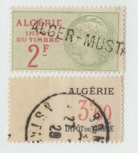 France Cinderella or Revenue stamp 11-8 colonies Algeria