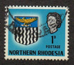 No. Rhodesia QE II Arms 1 P(Scott #76) Used