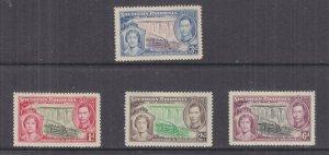 SOUTHERN RHODESIA, 1937 Coronation set of 4, lhm.