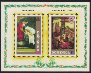 Dominica Paintings Christmas MS SG#MS372