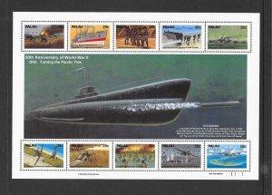 PALAU #316  50TH ANNIVERSARY OF WWII   MNH