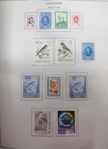 A) 1974, ARGENTINA, LOT OF 12 STAMPS, BELGRANO, SAN MARTIN, GUILLERMO BROWN, PRO