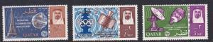 Qatar 61-63 Mint OG 1965 ITU Cent.