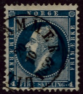Norway 1856 Sc #4 F-VF Used Cat $20...Great Value!