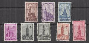 BELGIUM, 1939 Anti TB Fund set of 8, mnh.