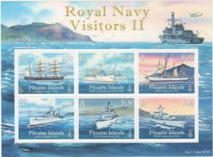 Pitcairn Islands - Ships - 6 Stamp  Sheet PIT1007H