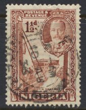 Nigeria  SG 36a  SC# 40a  perf 12½ x 13½ Used 1936 issue Tin dredger  pleas...