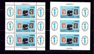 Philippines C110 MNH 1977 Perf and Imperf S/S