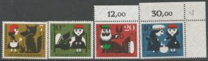 GERMANY B372-75 MNH 537F-1