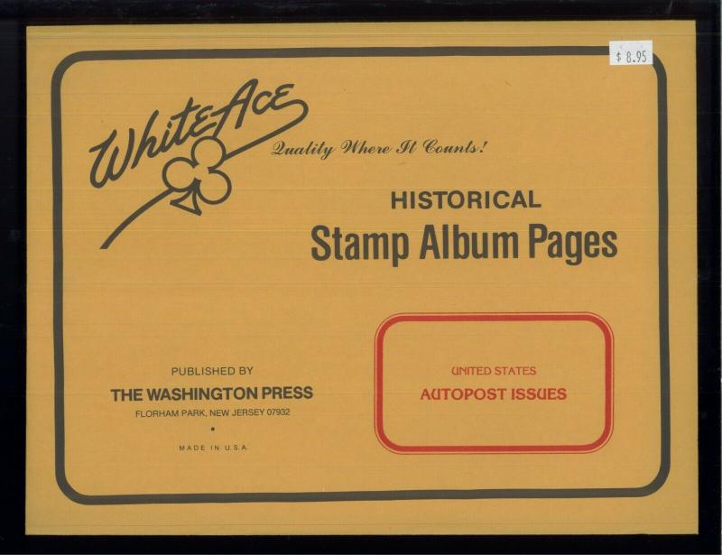 White Ace Historical Stamp Album Pages United States Autopost Issues