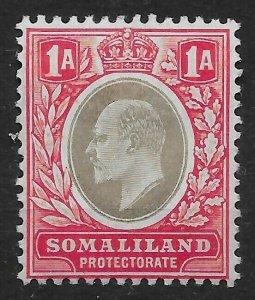 SOMALILAND SG33 1904 1a GREY-BLACK & RED MTD MINT