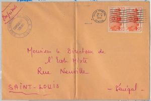 65197  - SENEGAL - POSTAL HISTORY -  LARGE COVER  1951