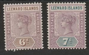 LEEWARD ISLANDS 1890 QV TABLET 6D AND 7D