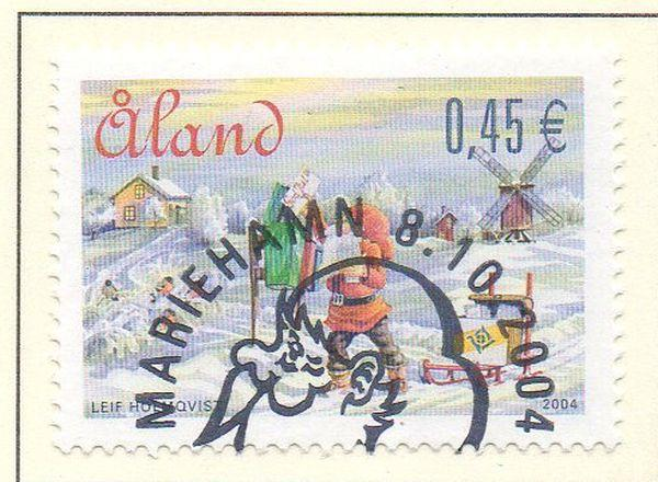 Aland Finland Sc 229  2004 Christmas stamp used