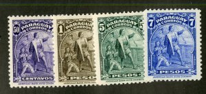 PARAGUAY 399-402 MNH BIN $1.00