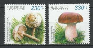 Armenia 2013 Mushrooms 2 MNH stamps