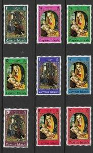 Cayman Is 242 - 250// 277 - 282(SG 253//93)  Christmas - MNH - VF - 1969/70