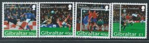 Gibraltar - 2004 - European Football - 4 Stamp Set  Scott #971-4