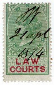 (I.B) QV Revenue : Law Courts (Scotland) 1/- (1873)