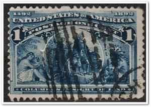 SC#230 1¢ Columbus in Sight of Land (1893) Used