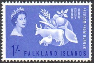 Falkland Islands 1963 Freedom from Hunger MH