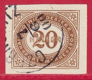 Austria - 1900 - Scott #J19 - used - Numeral