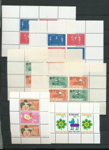 Suriname Children Art Sheets MNH x 9 (Ac 1580