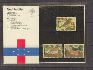 NETHERLANDS ANTILLES,1984 Birds set of 3, Folder 6