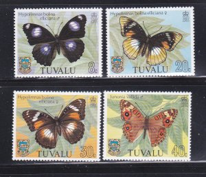 Tuvalu 146-149 Set MNH Insects, Butterfly