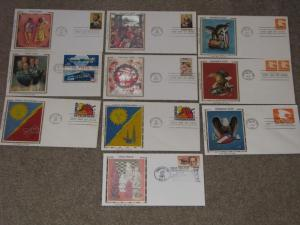 US 9 Different  Colorano  FDC`s + 1 Topical  (Chess)