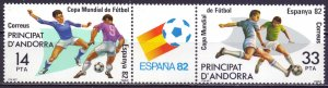 Andorra. 1982. 185-86. Football. MNH.