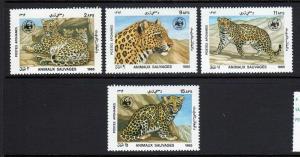 Afghanistan Scott 1172-7 World Wildlife Fund Wild Animals