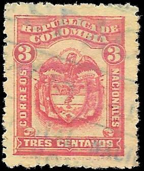1920 COLOMBIA SC# 359 -  CV $.25 - USED ng - GOOD SPACE FILLING STAMP