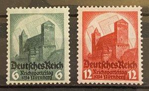 Germany 1934 Sc #442-443 Mi 546-547 Mint *NH* Mi-CV 101$
