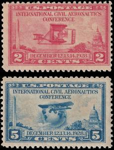 USA 1928 Sc 649-50 MH Aeronautical Conference