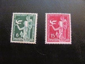 GERMANY 1936 MNH SC# 477-8 ALLEGORY $18 (112)