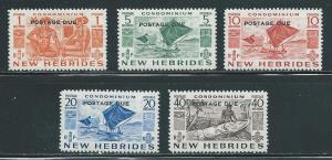 New Hebrides British J11-15 Postage Dues set MNH