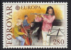 Faroe Islands 1985 MNH Europa  Europe music year 280 ore   #