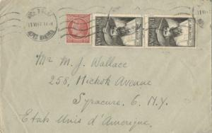 France 4.50F Auguste Pavie Anniversary (2) and 1F Ceres 1947 Nice, Alpes Marm...