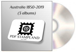 Australia 1850 - 2019 (3 albums) PDF STAMP ALBUM PAGES