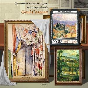 TOGO - 2021 - Paul Cezanne - Perf Souv Sheet - Mint Never Hinged