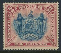 North Borneo SG 79c MH SC#67  perf 13½ x 14 see details & scans