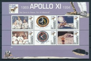 [107368] Dominica 1994 Space travel weltraum Apollo XI Sheet MNH