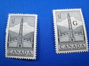 CANADA  SCOTT# 321 & O32 -  MNH