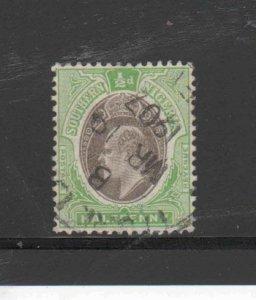 SOUTHERN NIGERIA #21  1906  1/2p  KING EDWARD VII       F-VF USED