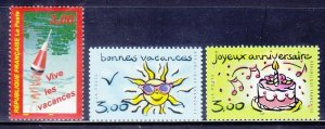 France 2721-23 MNH 1999 Holiday Announcements Set of 3 Very Fine