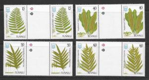 TUVALU Sc#438-441 Complete Gutter Pair Set Mint Never Hinged