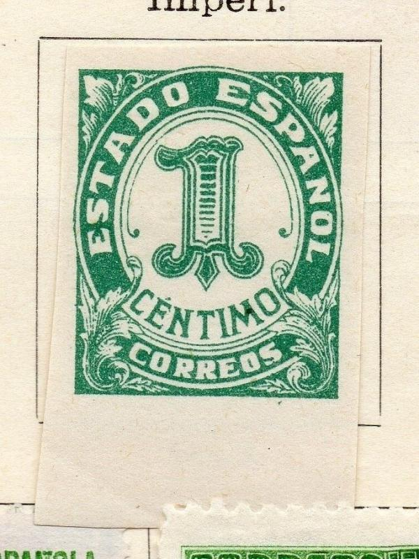 Spain 1932-35 Early Issue Fine Mint Hinged 1c. Imperf 143473