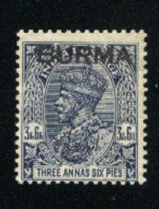 Burma #1   M NH 1937   PD