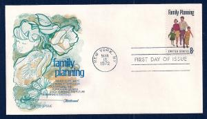 UNITED STATES FDC 8¢ Family Planning 1972 Fleetwood